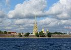 Neva river and St. Peter and Paul fortress in St. Petersburg